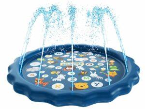SplashEZ 3-in-1 Sprinkler Splash Pad, en Waden zwembad voor het leren