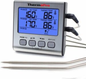 ThermoPro Dubbele Vleesthermometer Digitaal - BBQ Thermometer