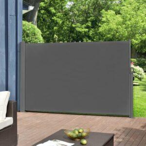 Uittrekbare windscherm - oprolbare terrasscherm-1,6x3m-grijs