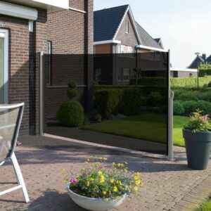 Windscherm - 180x300 - Antraciet Grijs- Doorzichtig - Oprolbaar - Aluminium - Privacy