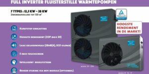 Zwembad warmtepomp FULL FULL INVERTER 9 kw , hoogste Markt rendement 2021