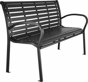 tectake- tuinbank Pino - zwart - 126 cm breed