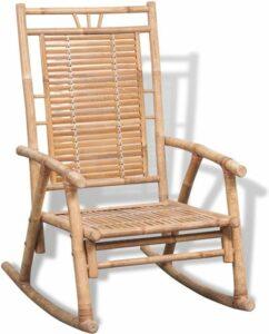 vidaXL Schommelstoel bamboe