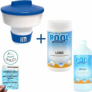 Chloor 200 gram Chloortabletten Zwembad Onderhoud Grote Chloordrijver Anti Alg + All Smiles Serviceboek
