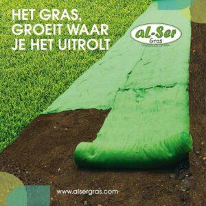 Graszaadmat - Graszaden - Gras reparatie - Gras aanleg - Gras herstel - Graszaad op rol - Grasrol - Zeer gemakkelijk in gebruik - Biologisch gras