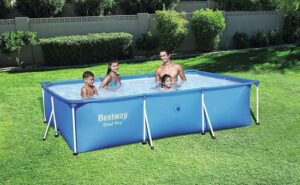 Intex Metal Frame Pool - 220 x 150 x 60 cm. Inclusief zwemband, & zwembad reiniger, veel waterplezier. Zwembad - Tuin - Camping
