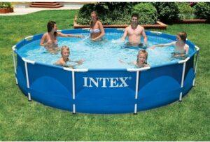 Intex Opzetzwembad Metal Frame 366 X 76 Cm Blauw