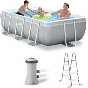 Intex Prism Frame zwembad 300 x 175 x 80 cm - Met Pomp - Met Ladder