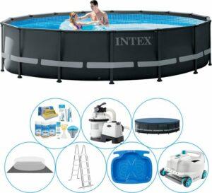 Intex Ultra XTR Frame Rond 488x122 cm - Slimme Zwembad Deal