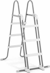 Intex Zwembadladder Zilver wit 107 cm voor Opzetzwembaden - Zwembadaccessoires