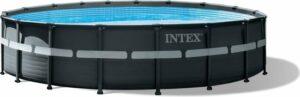 Intex zwembad rond Ultra XTR Frame 549x132 cm met zandfilter en accessoires