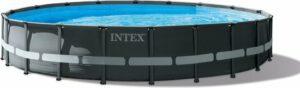 Intex zwembad rond Ultra XTR Frame 610x122 cm met zandfilter en accessoires