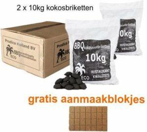 Kokosbriketten - 2x10kg - incl. aanmaakblokjes