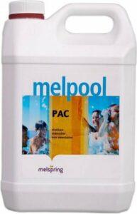 Melpool Pac vlokmiddel 5 liter verwijdert troebel water uit zwembaden