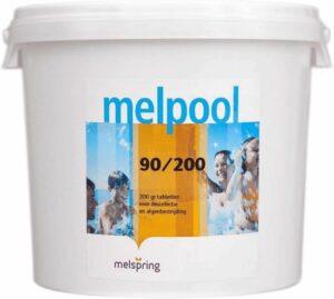 Melpool grote chloortabletten 200 grams 5 kg