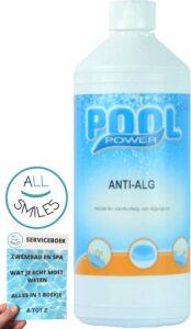 Pool Power Anti Alg voor Zwembad Onderhoud met All Smiles Serviceboek