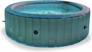 Ronde opblaasbare spa MSPA - Starry 6 - grijs zwart- ronde 6-persoons spa 205 cm, PVC, pomp, verwarming, inflator