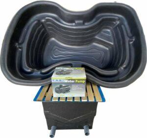 Vijverset 400 -voorgevormde vijver-pomp-vijverfilter-filter