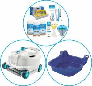 WAYS - Zwembad Accessoirepakket 3-delig - WAYS Onderhoudspakket & Automatische Zwembad stofzuiger Deluxe & Voetenbad