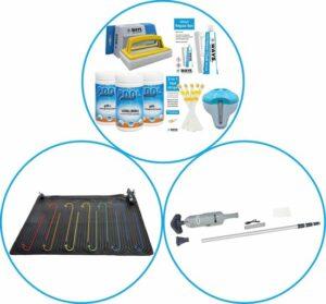 Zwembad Accessoirepakket 3-delig - WAYS Onderhoudspakket & Zwembad verwarming & Zwembad stofzuiger