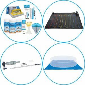 Zwembad Accessoirepakket 4-delig - WAYS Onderhoudspakket & Zwembad verwarming & Zwembad stofzuiger & Grondzeil