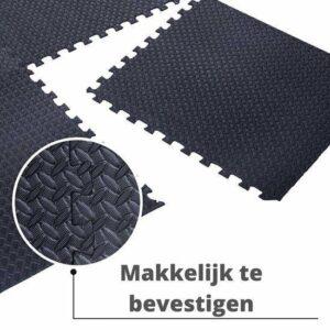 Zwembad Tegels 6 + 1GRATIS (Zwart) - Foam Puzzelmat - 40cm x40cm