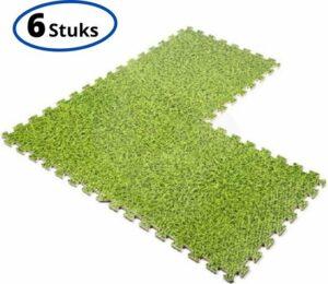 Zwembad Vloer Tegels geschikt voor Intex - 40 x 40 x 1 cm - Gras-Groen