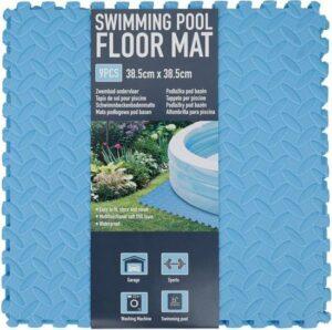 Zwembad tegels - Bodem bescherming - Ondertegels - Ondervloer - Ondergrond - Foam tegels - Matten - Puzzelmat voor zwembad