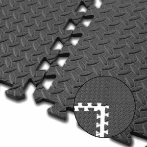 Zwembad tegels - Zwembad ondervloer - Tuin ondervloer - Tuintegels - Fitness mat - Fitness vloer rubber - 6x40cmx40cm