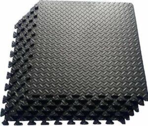 Zwembadtegels - 4 + 2 GRATIS 6 stuks, 1m2 - Rubber ondertegels zwart