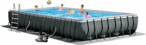 intex rechthoekig zwembad met pomp