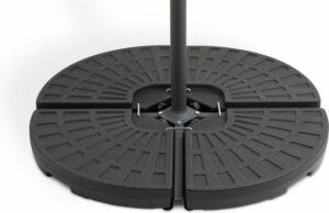 909 OUTDOOR Vulbare parasolvoet - Te vullen met zand of water - Weerbestendig - 100 x 100 cm - zwart