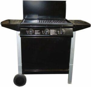 ANDALOUCIA Barbecue op gas 3 branders op kar - Geëmailleerd gietijzer