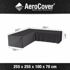 Aerocover loungesethoes - L-vorm - L 255 x L 255 x B 100 x H 70 cm
