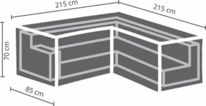 AllSeasons Covers Loungesethoes L 215x215x85x70 cm - antraciet