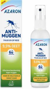 Azaron 9,5% DEET Muggenspray - Anti-Muggen - Muggenbescherming