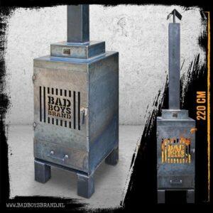 BadBoysBrand Sparta Gate Tuinhaard - 220 cm - Staal - 100% Made in Jail