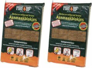 Barbecue en vuurkorf aanmaakblokjes - 56 stuks - bbq aanmaken
