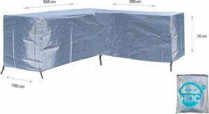 COVER UP HOC Diamond hoes Hoek vorm Loungeset- 255x255x100x70-Loungeset beschermhoes waterdicht met stormbanden en trekkoord