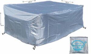 COVER UP HOC - Diamond hoes loungeset - 242x162x100 cm - loungeset beschermhoes waterdicht met Stormbanden