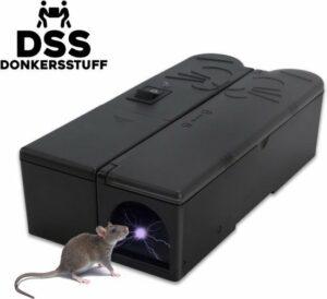 Donkersstuff Elektrische muizenval - inclusief adapter, vuilniszakken(4x) en wegwerphandschoenen
