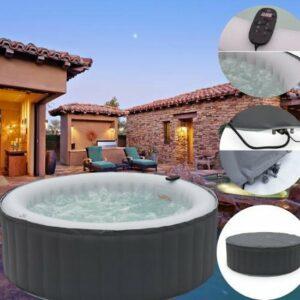 EFLO® Miami Opblaasbare Hot Tub - 4-Personen AirJet Spa - Incl. Afstandsbediening, Pomp, Timer - 42 °C
