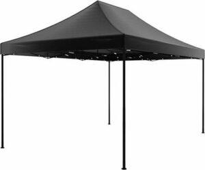 Easy up 3x4,5m zwart luxe zonder zijwanden partytent