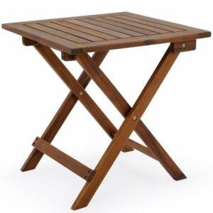 EezyLife Houten bijzettafel - 46x46x46cm - Acacia hout - Tuintafel