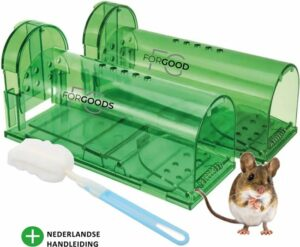ForGoods® Diervriendelijke Muizenval - 2 stuks - Muizenverjager - Voor Binnen en Buiten - Inclusief E-Book - Verbeterd Model 2021