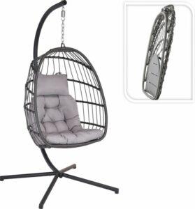 Hangstoel Opvouwbaar Zwart 93x95x196