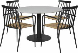 Helle tuintafel en 4 stoelen