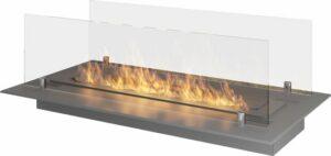 Infire - tafelhaard sfeerhaard met glasplaat tafelbrander bio ethanol 60x32cm