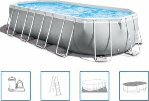 Intex Prism Frame Zwembadset ovaal 610x305x122 cm