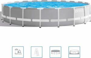 Intex Prism Frame zwembad Ø 610 x 132 cm - met filterpomp en accessoires